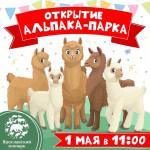 """1 мая - открытие """"Альпака-парка""""!"""