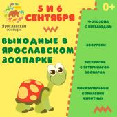 Выходные в Ярославском зоопарке - 5 и 6 сентября