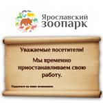 МАУ «Ярославский зоопарк» временно закрыт для посетителей